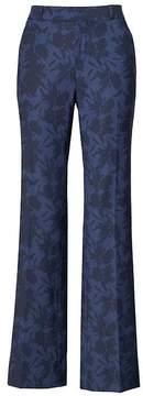 Banana Republic Logan Trouser-Fit Wool-Blend Floral Pant