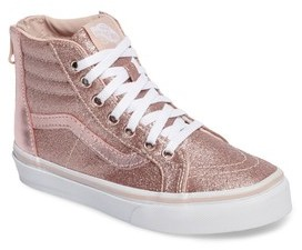 Vans Girl's Sk8-Hi Zip Glitter Sneaker