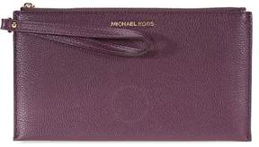 Michael Kors Mercer Leather Wristlet - Purple - 32F6GM9W3L-599 - ONE COLOR - STYLE