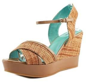 Studio Pollini Sa16849 Wedge Open Toe Patent Leather Wedge Sandal.