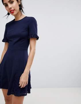 Asos Lace Insert Mini Skater Dress