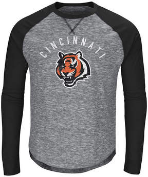 Majestic Men's Cincinnati Bengals Corner Blitz Raglan Long Sleeve T-Shirt