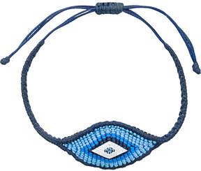 Diane Kordas woven Evil Eye bracelet