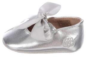 Ralph Lauren Girls' Leather Ballerina Flats