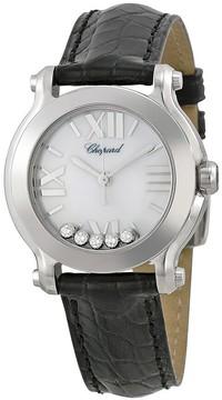 Chopard Happy Sport II Round White Diamond Dial Ladies Watch