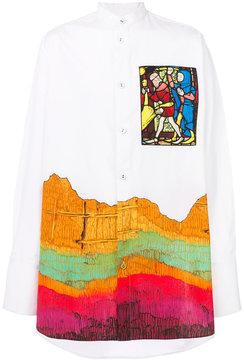 J.W.Anderson printed mandarin collar shirt