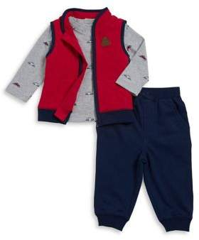 Little Me Baby Boy's Three-Piece Vest, Top, and Pants Set