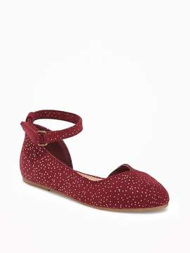Old Navy Sueded Pointy-Toe Ballet Flats for Toddler Girls