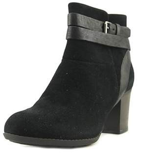 Clarks Enfield River Round Toe Suede Ankle Boot.