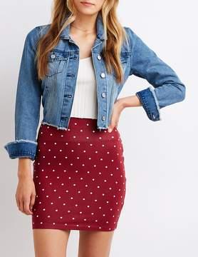 Charlotte Russe Polka Dot Mini Skirt