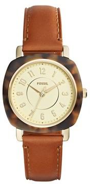 Fossil Women's Idealist Slim Leather Strap Watch, 36Mm X 36Mm