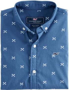 Vineyard Vines Boys Short-Sleeve Crossed Fish Bones Whale Shirt