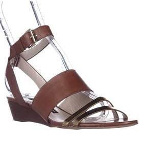 French Connection Wiley Ankle-strap Sandals, Gold/tan/tan.