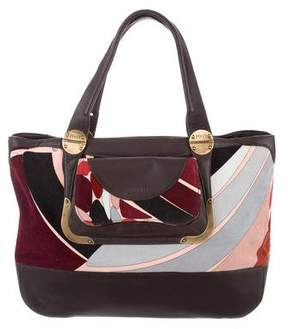 Emilio Pucci Leather-Trimmed Shoulder Bag