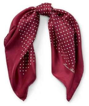 Ralph Lauren Farah Polka-Dot Silk Scarf Red Sangria One Size