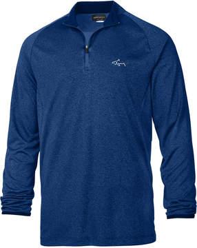 Greg Norman For Tasso Elba Men's Heathered Mock-Neck Quarter-Zip Shirt, Created for Macy's