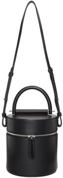Building Block Black Drum Bucket Bag