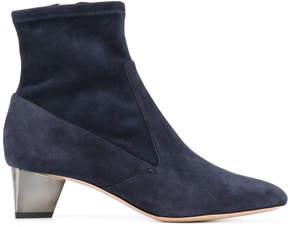 Nicholas Kirkwood metallic heel ankle boots