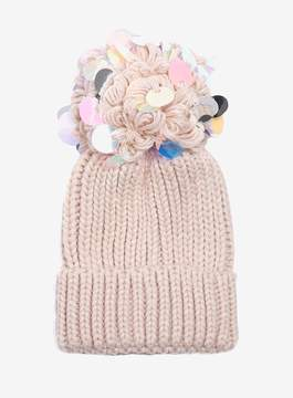 Dorothy Perkins Pink Sequin Pompom Beanie Hat