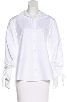 Alexis Mabille Long Sleeve Button-Up Top