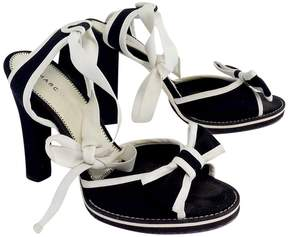 Marc Jacobs Black & White Canvas Lace up Heels