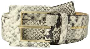 MICHAEL Michael Kors Snake Leather Hip Station Belt Women's Belts