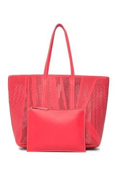 Sondra Roberts Perforated Tote Bag