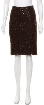 Andrew Gn Sequined Knit Skirt