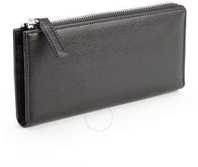 Royce Leather Royce RFID Blocking Saffiano Leather Continental Fan Wallet - Black