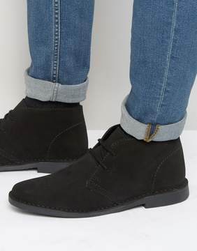 Red Tape Desert Boots Black Suede