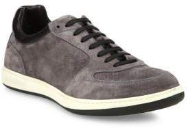 Giorgio Armani Suede & Leather Low Top Sneakers