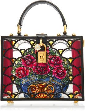Dolce & Gabbana Dolce Box Floral-Print Plexi Bag