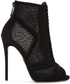 Dolce & Gabbana Black Mesh Boots