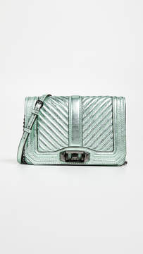 Rebecca Minkoff Chevron Quilted Love Cross Body Bag - MINT - STYLE