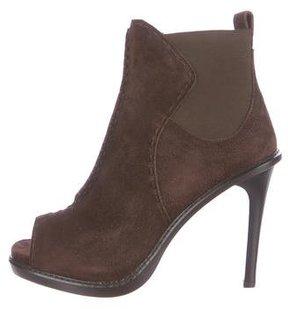 Derek Lam Suede Peep-Toe Ankle Boots