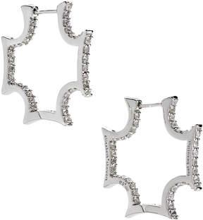 Elizabeth Showers Maltese White Sapphire Hoop Earrings
