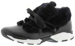 All Black Furry Sneak Sneakers