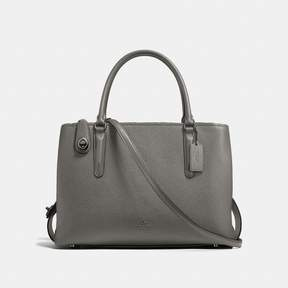 COACH COACH BROOKLYN CARRYALL 34 - HEATHER GREY/DARK GUNMETAL