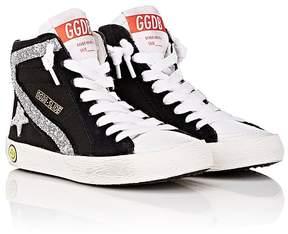 Golden Goose Deluxe Brand Kids' Slide Canvas & Leather Sneakers