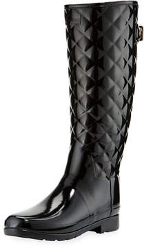 Hunter Tall Gloss Quilted Rubber Boot