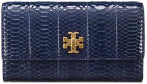 Tory Burch KIRA SNAKE ENVELOPE CONTINENTAL WALLET - ROYAL NAVY - STYLE