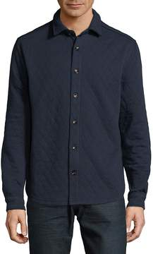 Saks Fifth Avenue BLACK Men's Quilted Buttoned Top