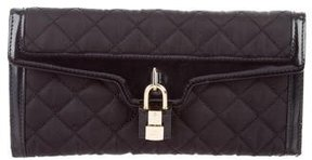 Burberry Quilted Nylon Wallet - BLACK - STYLE