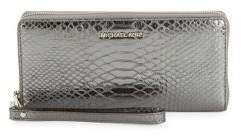 MICHAEL Michael Kors Travel Leather Continental Wristlet - PEWTER - STYLE