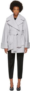 Carven Grey Wrap Waist Coat