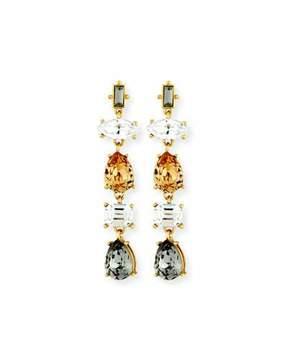 Sequin Five-Drop Crystal Earrings