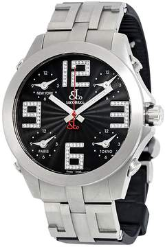 Jacob & co Five Time Zone Stainless Steel Men's Watch