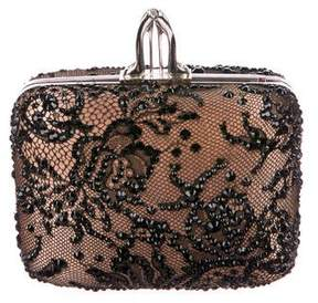 Christian Louboutin Embellished Lace Clutch