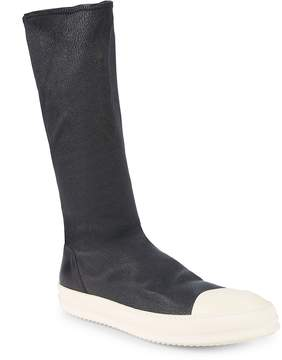 Rick Owens Men's Slip-On Leather Boots