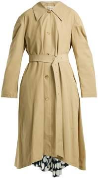 Awake Polka-dot panel cotton-blend trench coat